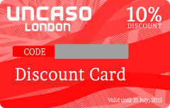 PVC Uncaso Discount Card Printing