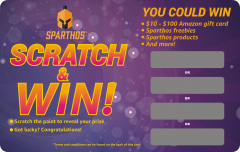 Sparthos Scratch & Win Card Printing