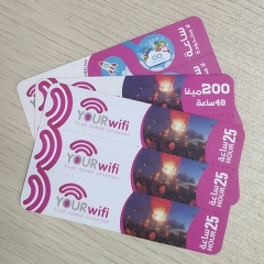 3 in 1 Multi-Pin Your Wifi Scratch Card Printing