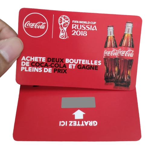 Paper CocaCola Scratch Card Printing